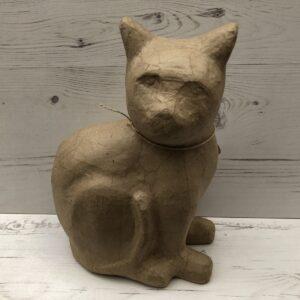 Papier-Mâché Cat (L)