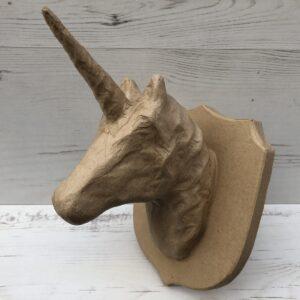 Papier-Mâché Unicorn Trophy Head (M)