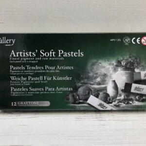 Gallery (Mungvo) Soft Pastels (12 Graytone)