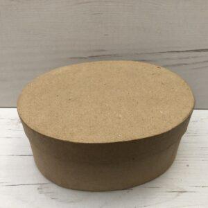 Papier-Mâché Oval Shaped Box (Large)