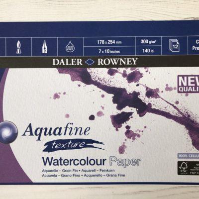 Daler Rowney: Aquafine Texture Watercolour Paper (7″ x 10″) (Spiral-Bound)