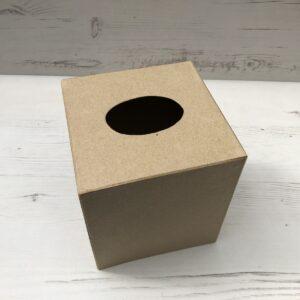 Papier-Mâché Tissue Box Cover (Square)