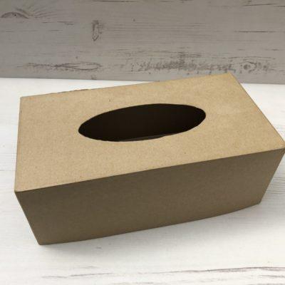 Papier-Mâché Tissue Box Cover (Rectangular)
