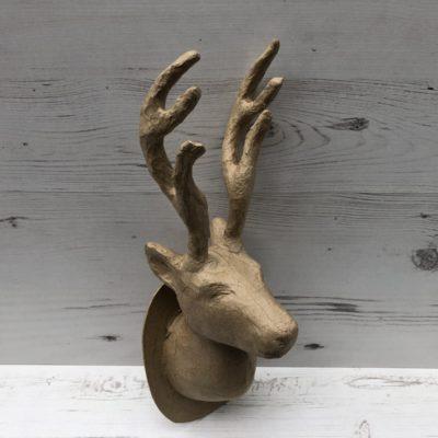 Papier-Mâché Reindeer Trophy Head (L)