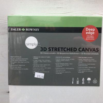Daler Rowney: 3D Stretched Canvas (40cm x 80cm)