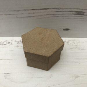 Papier-Mâché Hexagonal Box (Small)