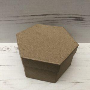 Papier-Mâché Hexagonal Box (Medium)