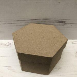 Papier-Mâché Hexagonal Box (Large)