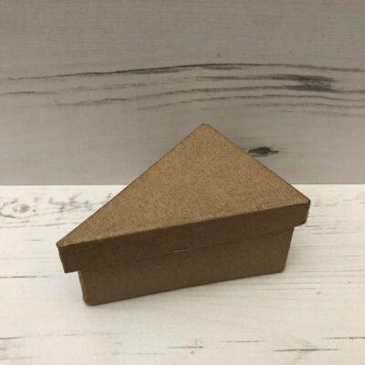 Papier-Mâché Triangle Shaped Box (Small)