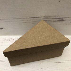 Papier-Mâché Triangle Shaped Box (Large)