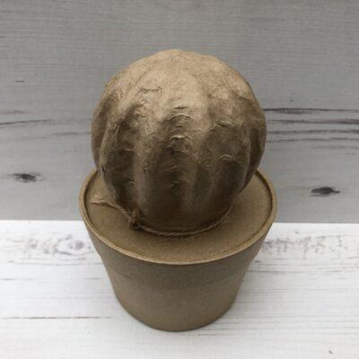 Papier-Mâché Ball Cactus (M)