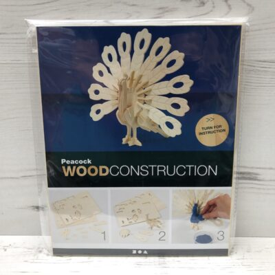 Wood Construction Kit: Peacock