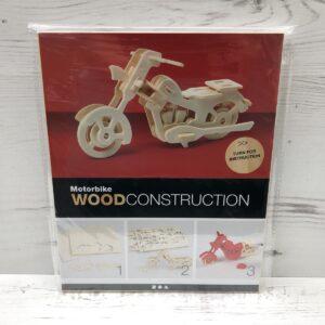 Wood Construction Kit: Motorcycle