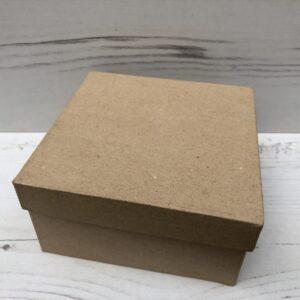 Papier-Mâché Square Box (Medium)