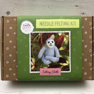Needle Felting Kit: Sitting Sloth