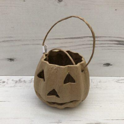 Papier-Mâché Pumpkin Basket