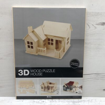 Wood Construction Kit: House With Terrace