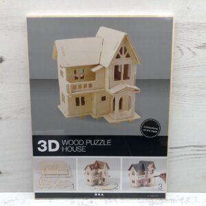 Wood Construction Kit: House With Balcony