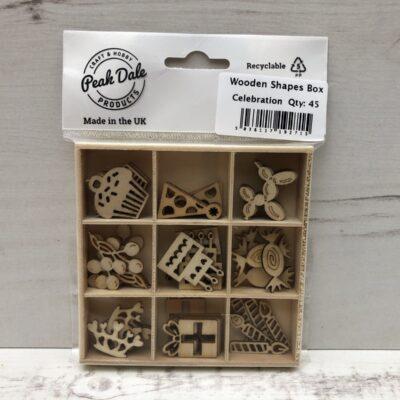 Mini Wooden Shapes Box: Celebrations
