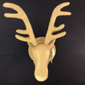Papier-Mâché Reindeer Trophy Head (XL)