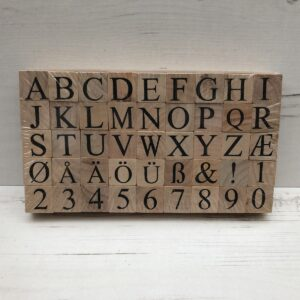 Alphabet Wooden Foam Stamps