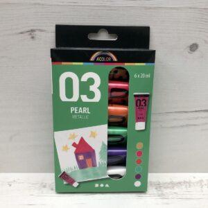 Basic Acrylic Paint Set: 03 Pearl Metallic (PI)