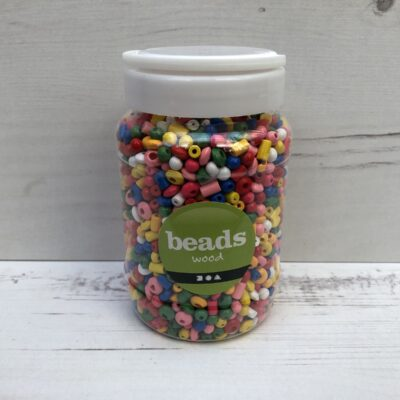 Wooden Beads: Mini Coloured Mix