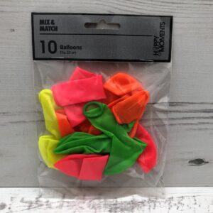 Neon Coloured Balloons