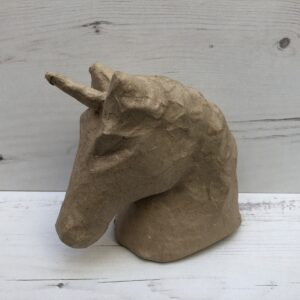 Papier-Mâché Unicorn Head (M)