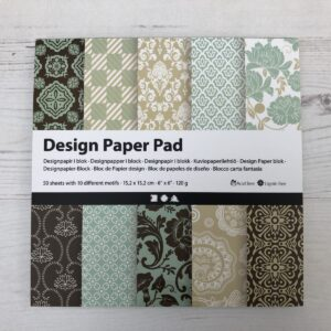 Paper Stack: Brown and Teal