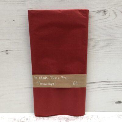 Tissue Paper: Red
