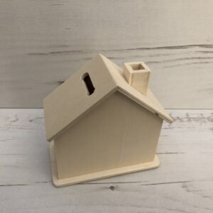 Wooden House Money Box