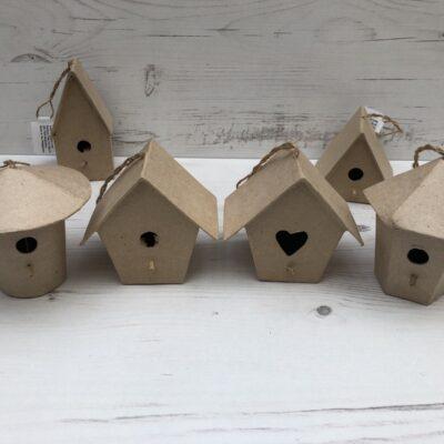 Papier-Mâché Mini Hanging Birdhouse