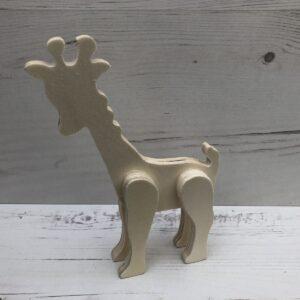 3D Wooden Figure: Giraffe