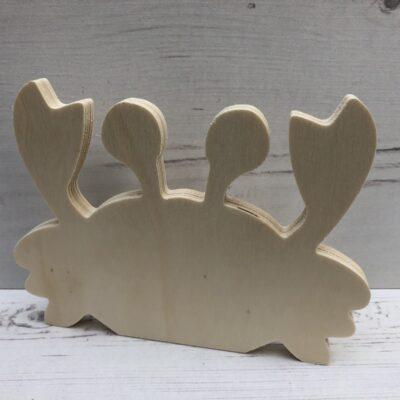 3D Wooden Figure: Crab