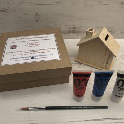 Decorate a House Money Box Kit