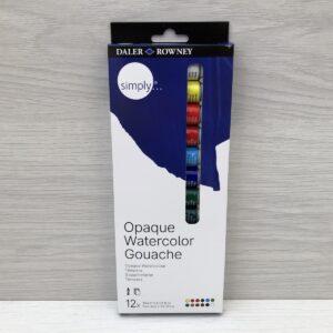 Daler Rowney: Opaque Watercolour Gouache (12 Tube)