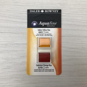 Aquafine HalfPan Refills: 643 (Indian Yellow Hue) & 619 (Cadmium Orange Hue)