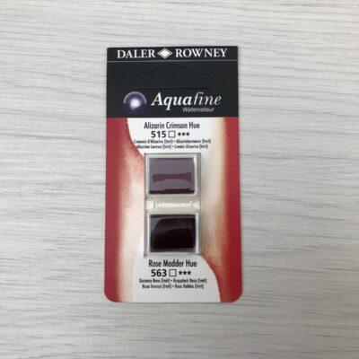 Aquafine HalfPan Refills: 515 (Alizarin Crimson Hue) & 563 (Rose Madder Hue)