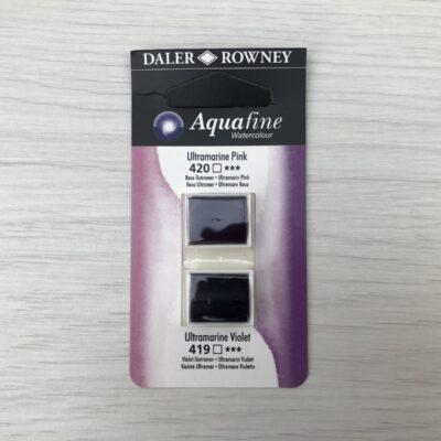 Aquafine HalfPan Refills: 420 (Ultramarine Pink) & 419 (Ultramarine Violet)