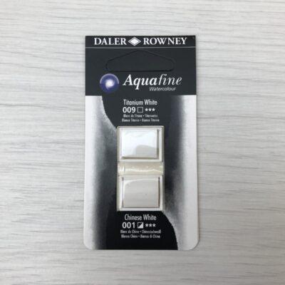 Aquafine HalfPan Refills: 009 (Titanium White) & 001 (Chinese White)