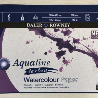 Daler Rowney: Aquafine Texture Watercolour Paper (12″ x 16″)