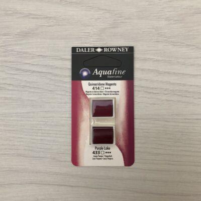 Aquafine HalfPan Refills: 414 (Quinacridone Magenta) & 433 (Purple Lake)