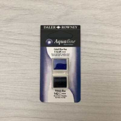 Aquafine HalfPan Refills: 110 (Cobalt Blue Hue) & 142 (Phthalo Blue)