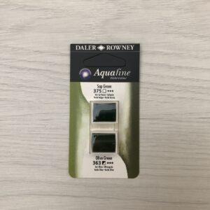 Aquafine HalfPan Refills: 375 (Sap Green) & 363 (Olive Green)
