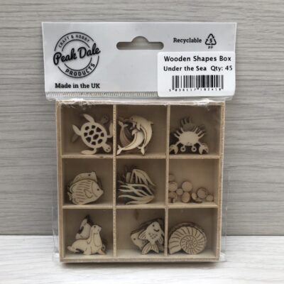 Mini Wooden Shapes Box: Under the Sea