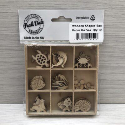 Mini Wooden Shapes Box: Under the Sea