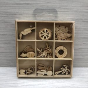 Mini Wooden Shapes Box: Tropical