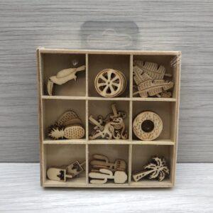 Mini Wooden Shapes Box: Tropical