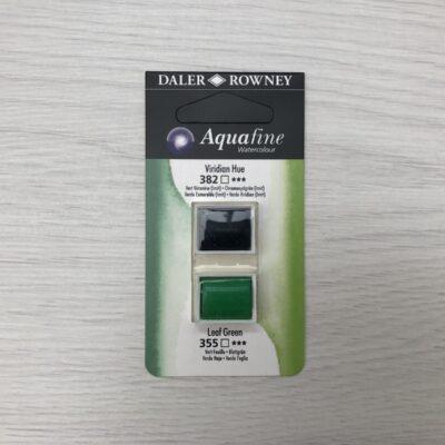 Aquafine HalfPan Refills: 382 (Viridian Hue) & 355 (Leaf Green)